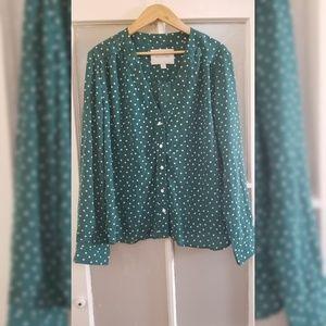 Amour Vert polkadot blouse